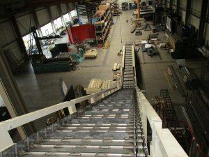 Plattenband_Stahlkonstruktion von oben klein
